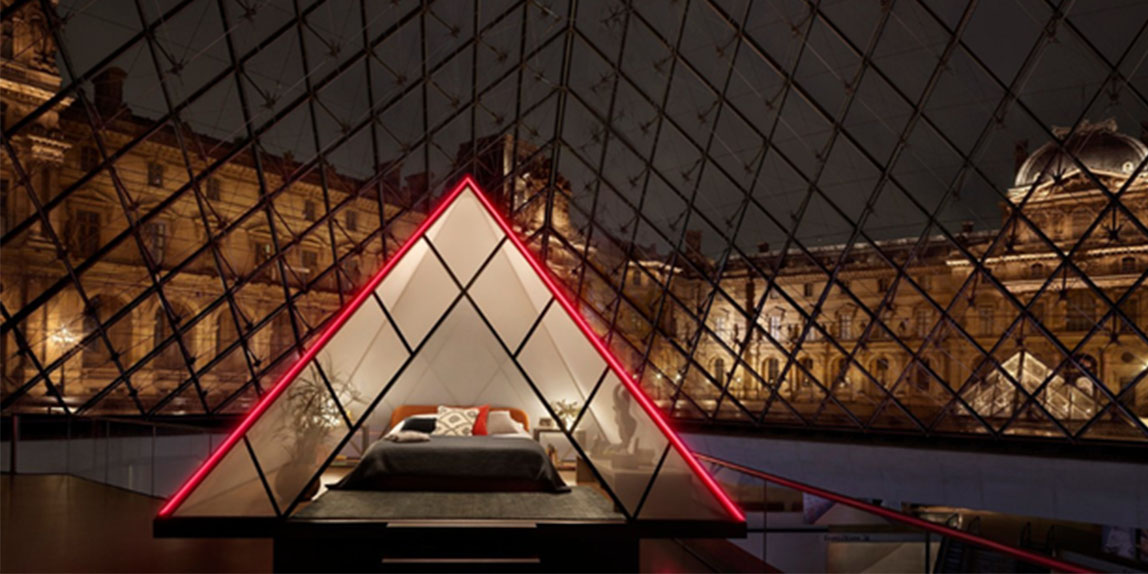 Old-school art and digital disruption unite for Airbnb's 'Night at the Louvre'